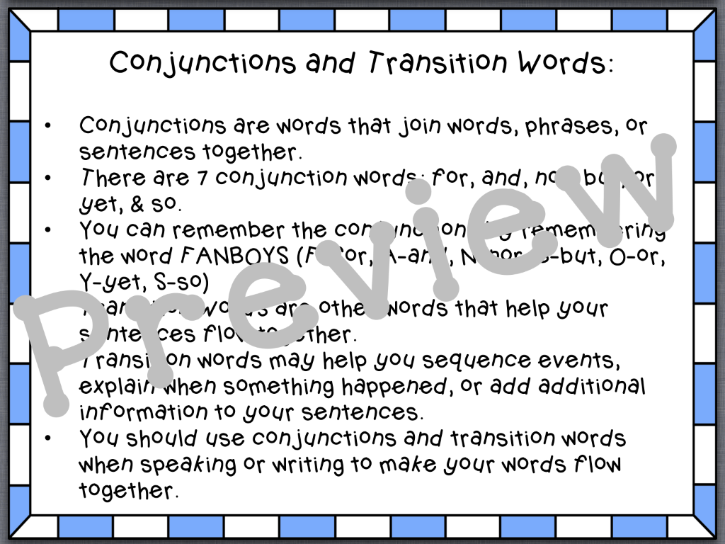 transition word for essays