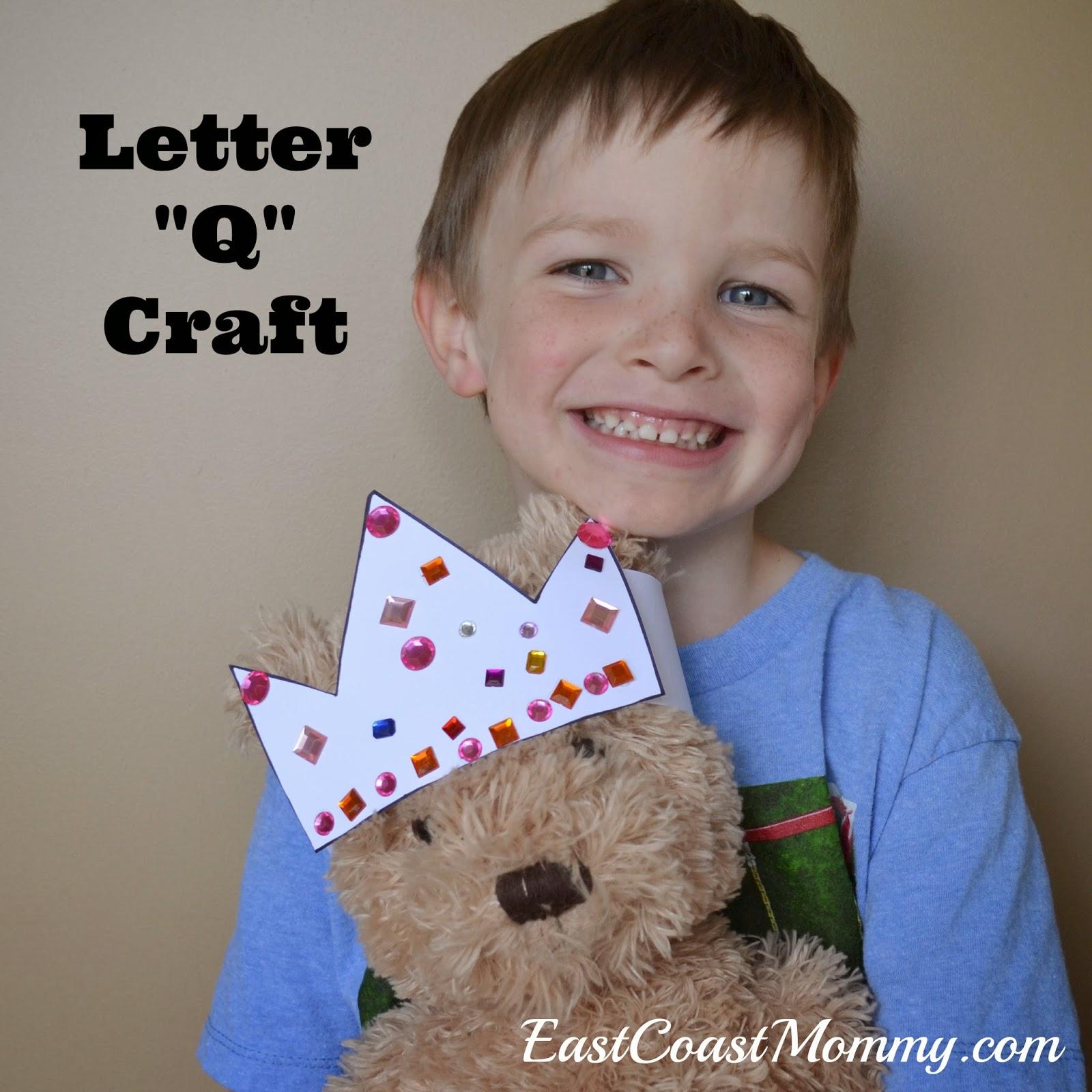 alphabet crafts letter q