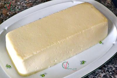 Pastel frío de coliflor.