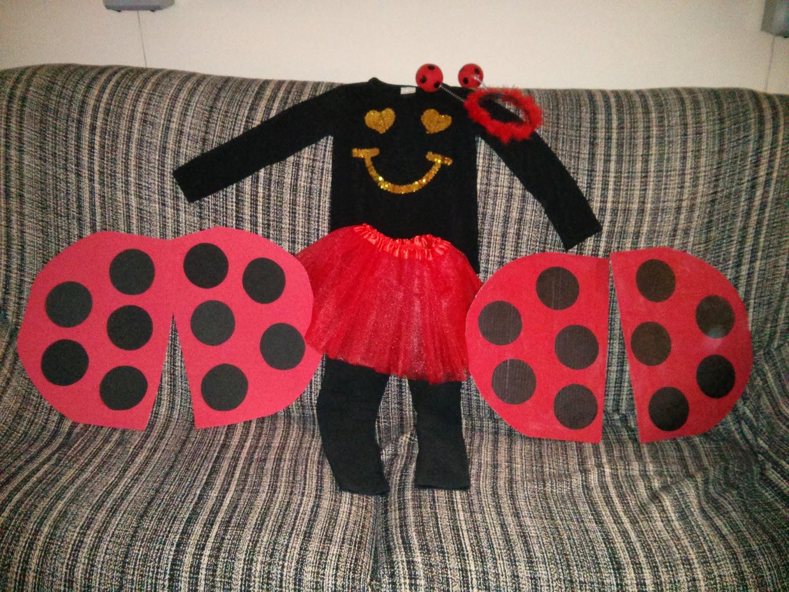 Disfraz de Mariquita hecho por Julia mama de 4 años A