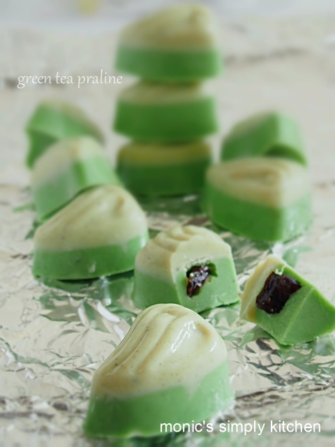 resep green tea praline
