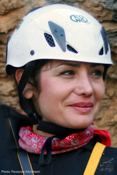 Leila Esfandiari, Iranian female mountain climber who lost her life yesterday coming back from peak