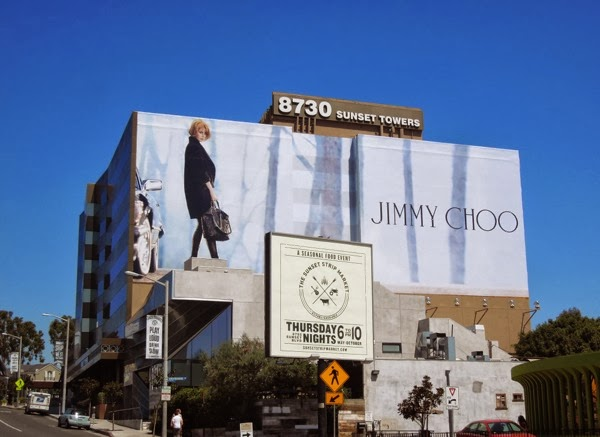 Giant Nicole Kidman Jimmy Choo FW 13 billboard