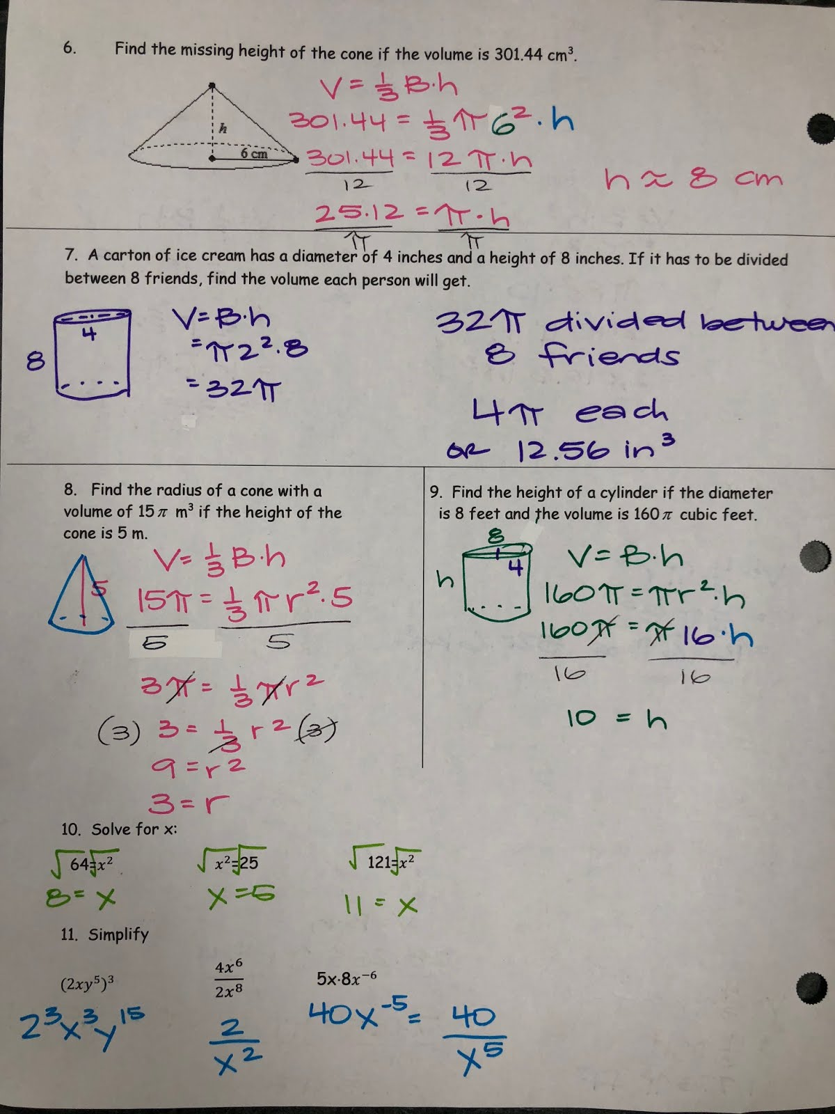 Mrs. Shaw\'s Site: Math Test Review