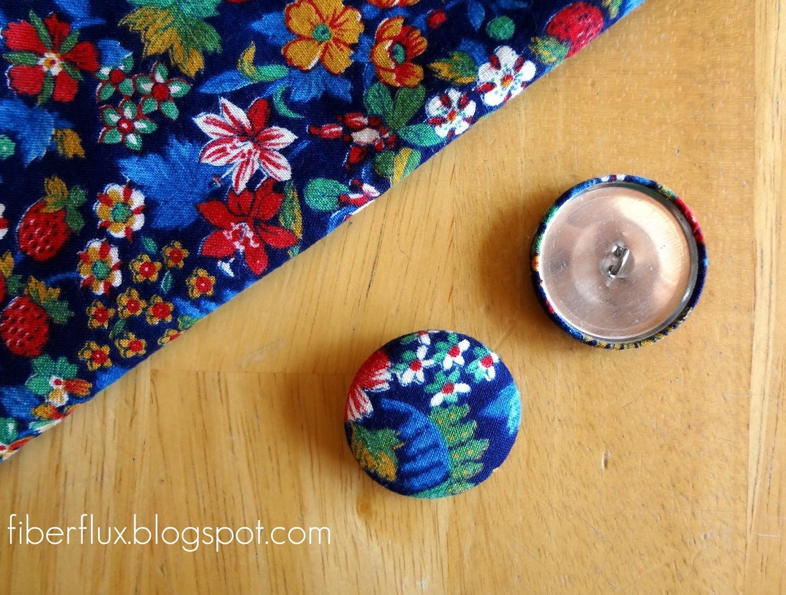 Fiber flux how to make fabric covered buttons