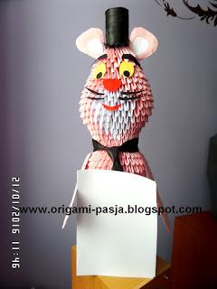 rózowa pantera z papieru