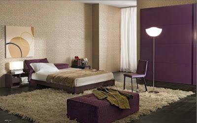 dormitorio color morado