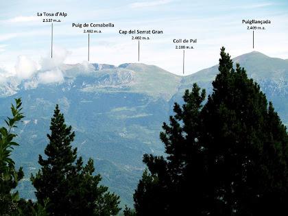 Panoràmica de la Tosa d'Alp al Puigllançada