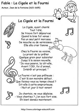 Cahier de classe la cigale et la fourmi jean de la fontaine - Dessin la cigale et la fourmi ...