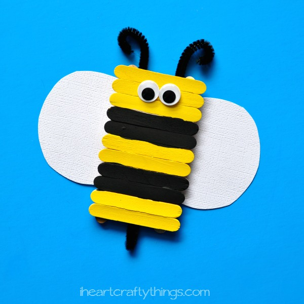I Heart Crafty Things Simple And Cute Popsicle Stick Bee
