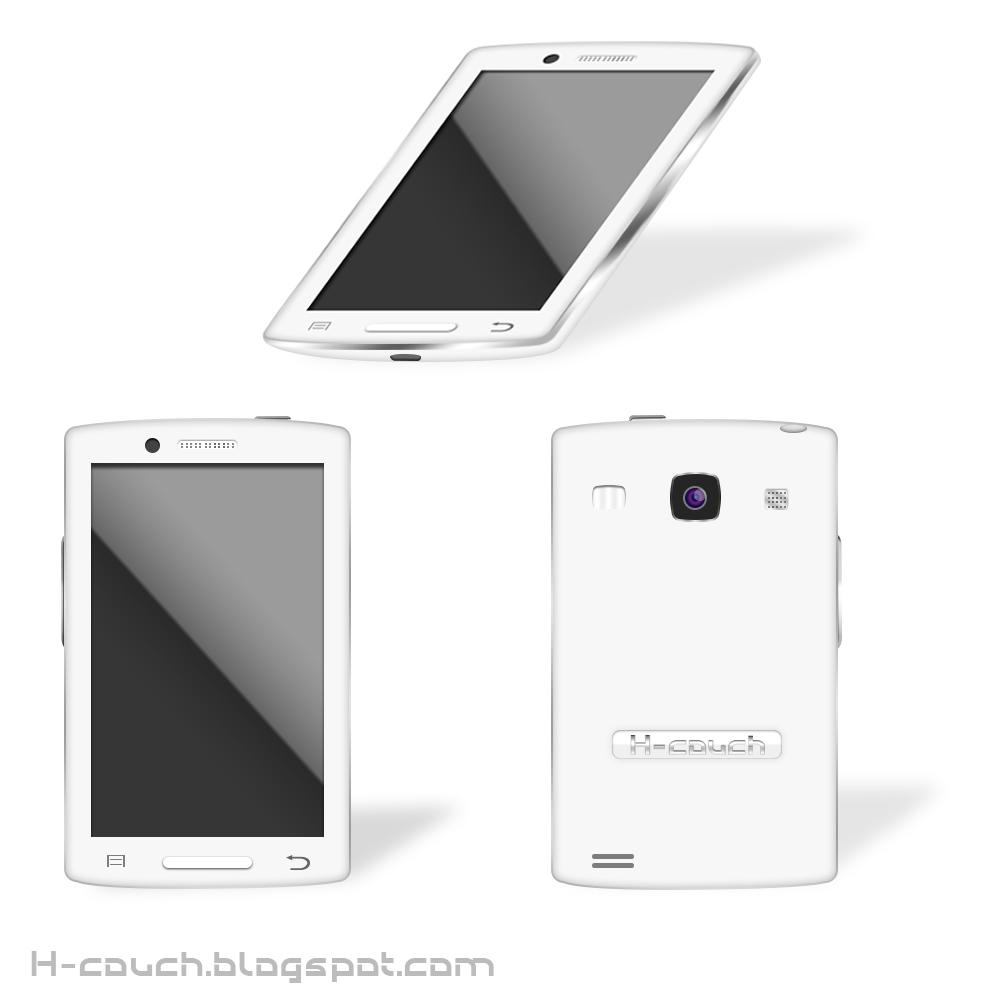 تحميل هاتف ذكي أبيض مجانا { PSD / PNG }
