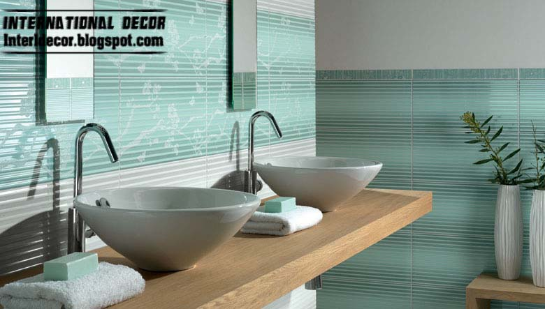 Contemporary turquoise bathroom tile designs ideas for Contemporary bathroom tiles