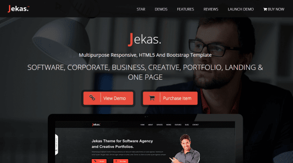 Software & Business Bootstrap Template