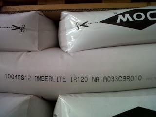 Resin Amberlite ir 120 na