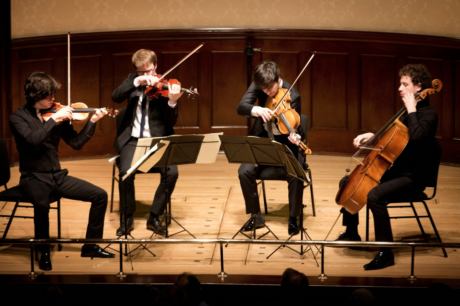 Van Kuijk Quartet (winners of the Wigmore Hall String Quartet Competition) performing in the final - photo Ben Ealovega