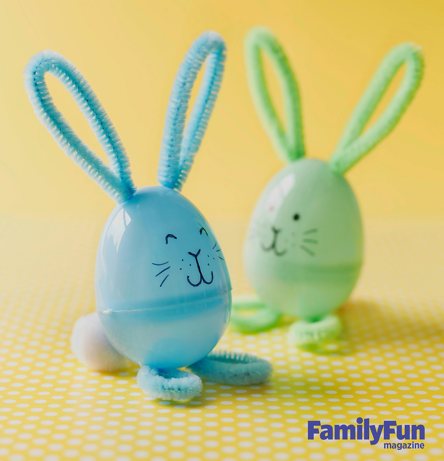 Easter Bunny Plastic Egg Craft by Family Fun magazine