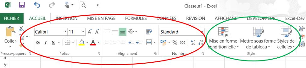 Excel - Format de cellules.