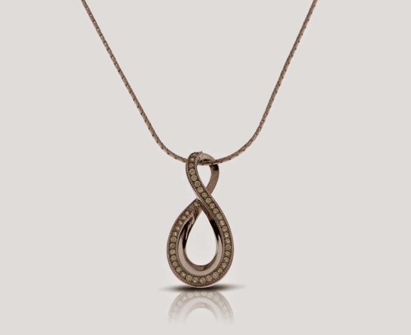 Magnolia Jewellery silver teardrop pendant