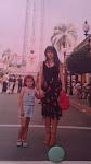 Con mi hija en un famoso parque de atracciones