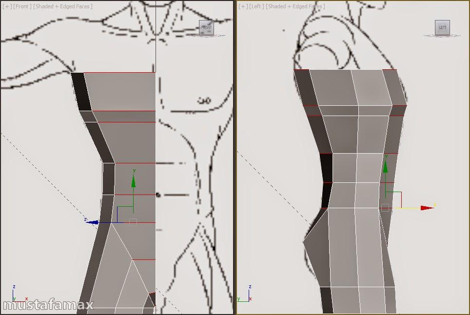 1-تصميم واكساء وتحريك شخصية في 3d max 2015 النتيجة النهائية