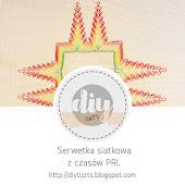 HAFT - serwetka siatkowa z czasów PRL