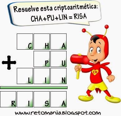 Criptoaritmética, Criptograma, Alfamética, Desafíos Matemáticos, Retos Matemáticos, Problemas Matemáticos, Problemas con letras, Problemas de lógica, Problemas para pensar, Criptosumas