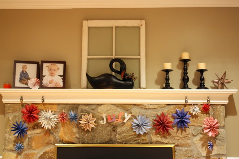 The Cellar Door Stories 4th Of July Decor On The Cheap Garland