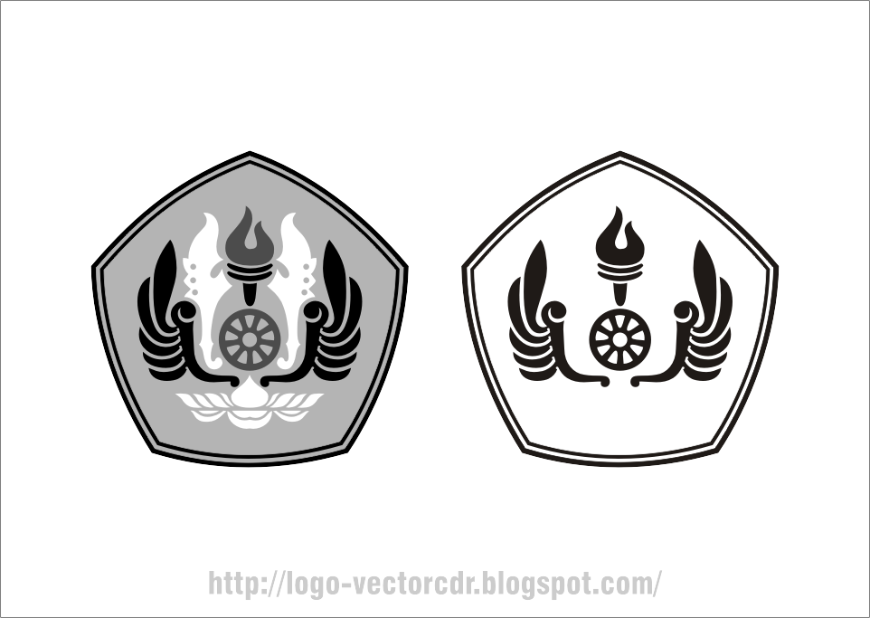 Download Logo UNPAD Hitam Putih Vector format cdr