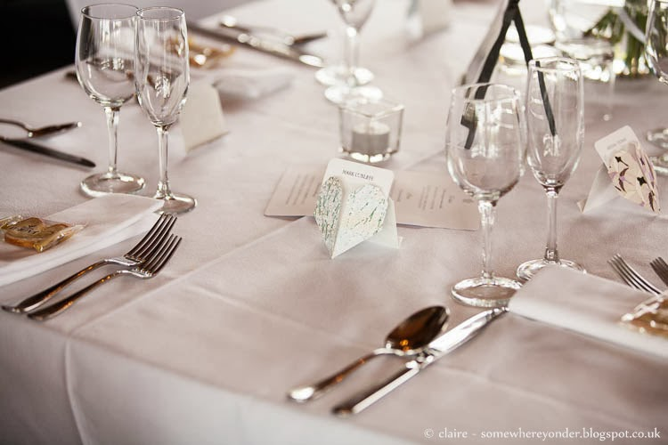 Origami and Japanese themed wedding table setting