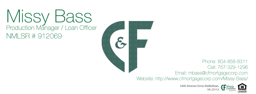 Missy Bass - C&F Mortgage Corporation