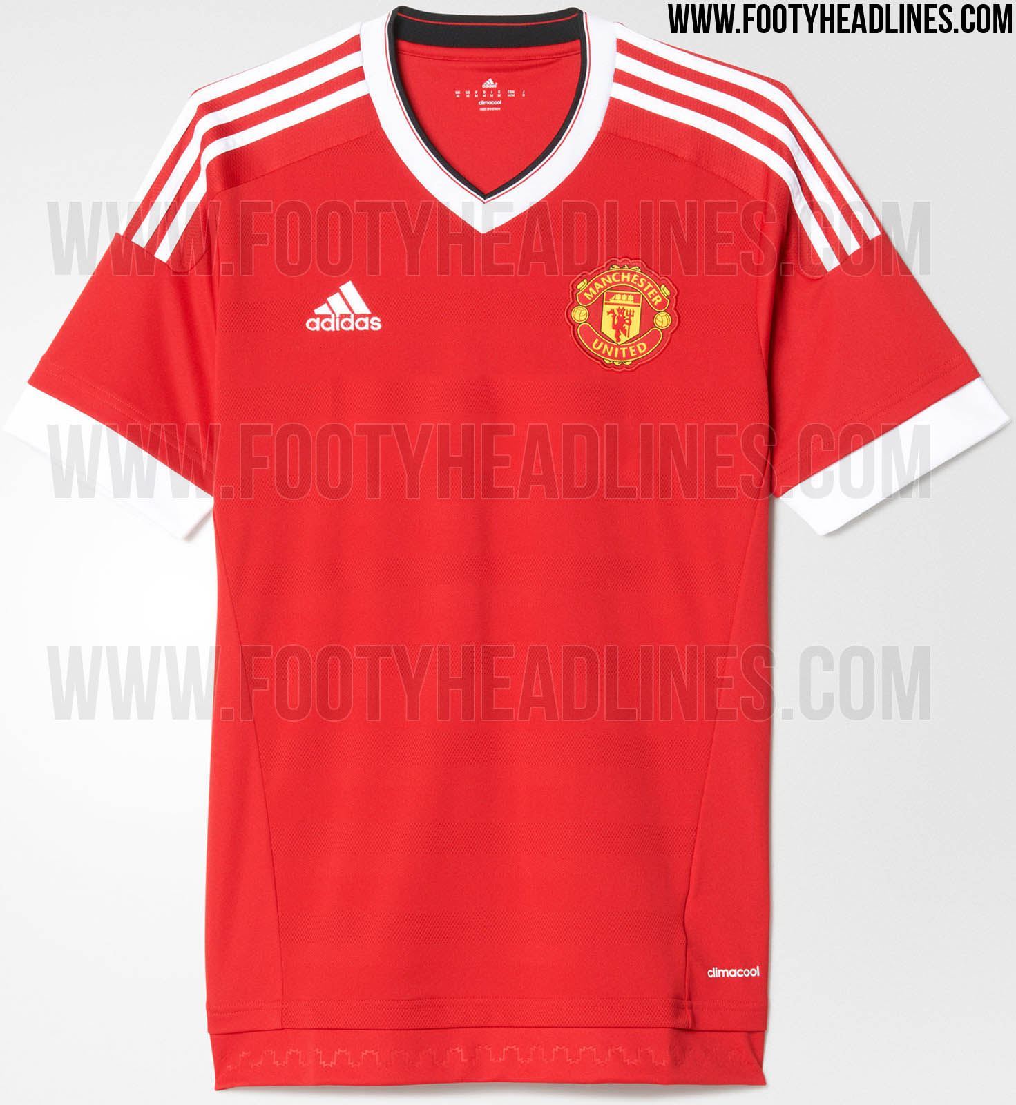 adidas manchester united 15 16 kit with classic sponsors