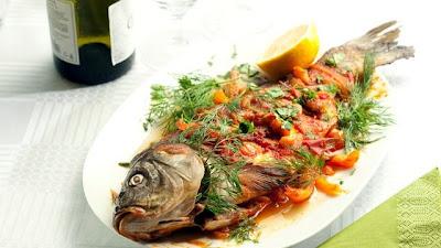 Карп Гусарский под соусом Ремулад - Кулинарные рецепты рыбных блюд - Ресторан дома