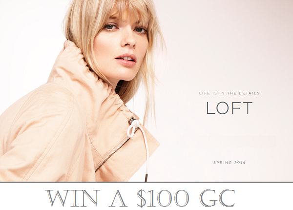 LOFT Canada x Solo Lisa $100 GC blog giveaway