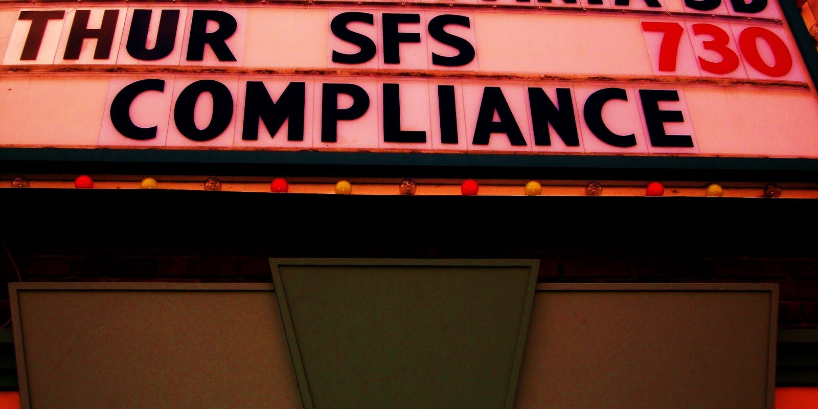 COMPLIANCE.. it is a problem...