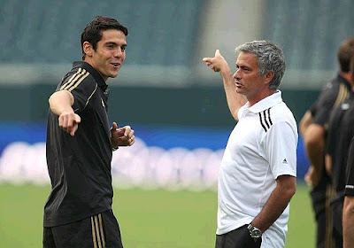 Ricardo Kaka and Jose Mourinho