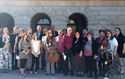 AACE students and staff standing in front of AZ Capitol