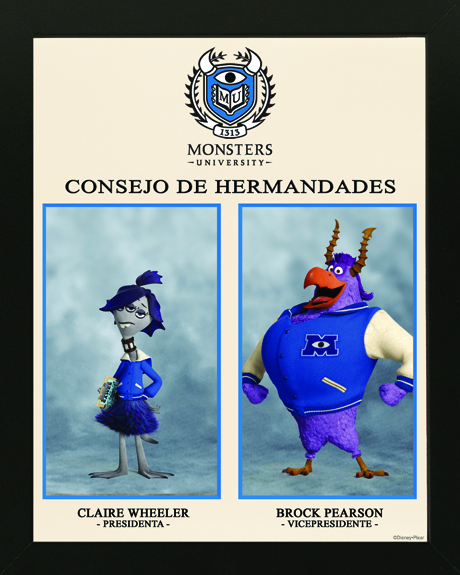 Monstruos University: Posters de las hermandades