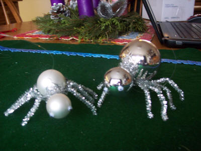 The Christmas Spider ornaments