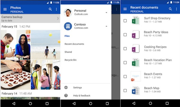 OneDrive for Android updated (2.9.6) with visual improvements and business account support
