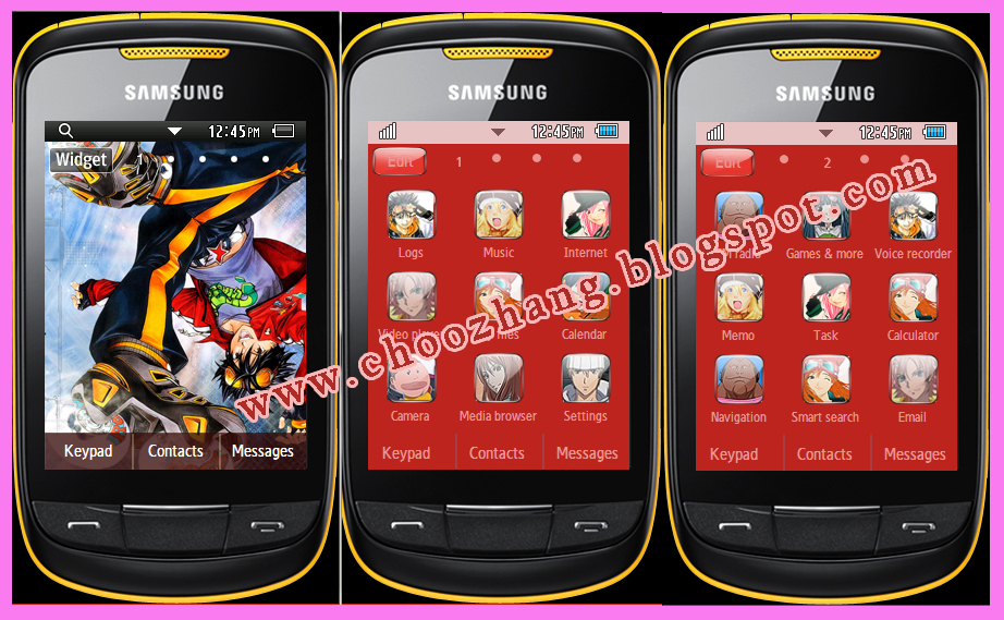 Samsung Corby 2 or S3850 - Air Gear Theme