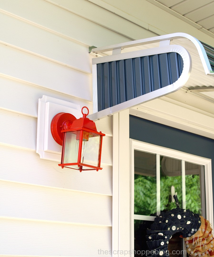 How to paint an exterior light fixture the scrap shoppe before reattaching the fixture wires and rehanging double check that there is no power going to the light arubaitofo Choice Image