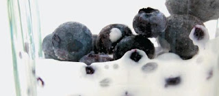 Make your own blueberry ice cream