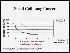 Tỷ lệ sống sót khi mắc ung thư phổi là rất thấp