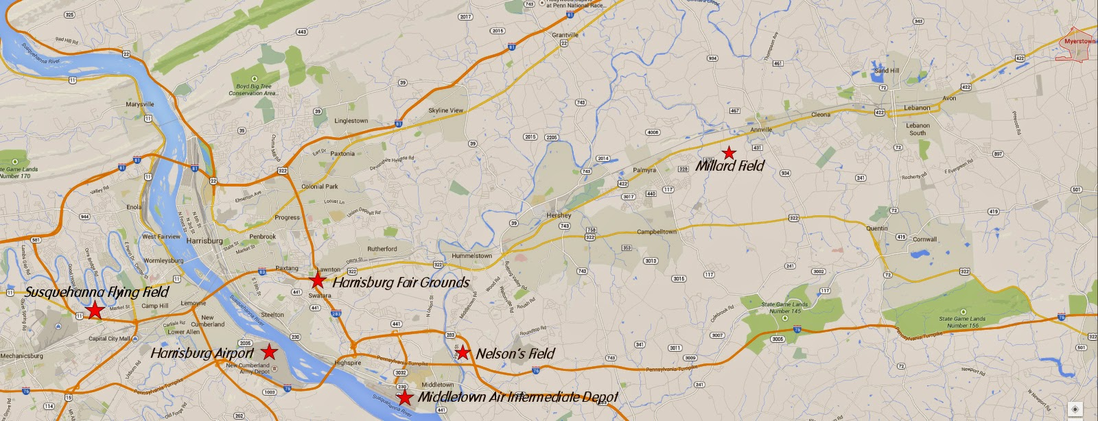 this map covers the area where nc3391 spent it s first 10 years