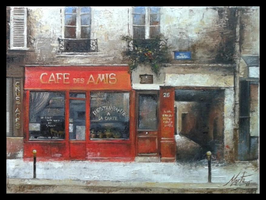 Café Francés 2 es un cuadro pintado por MartaSb con pintura al óleo