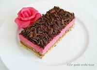 Dacquoise framboise chocolat