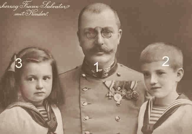 Franz Salvator, Clemens Salvator et Mathilde d'Autriche-Toscane-Habsbourg