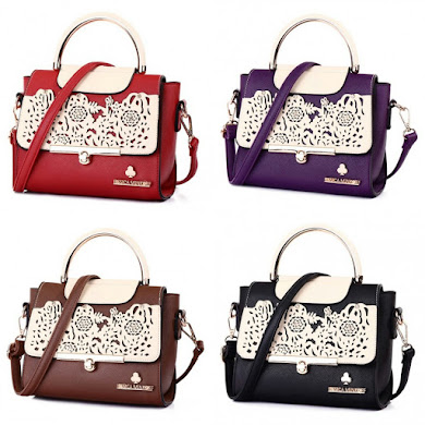 JESSICA MINKOFF BAG - BLACK , COFFEE , PURPLE , RED