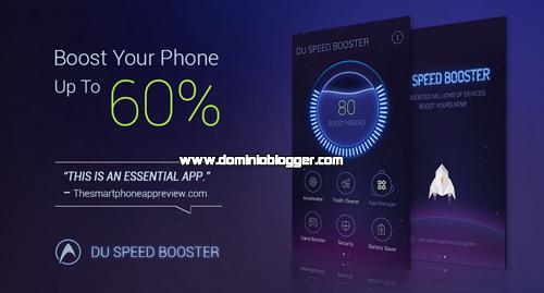 Acelera el rendimiento de tu telefono con DU Speed Booster