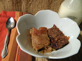 Dish of Two Apple Crisps